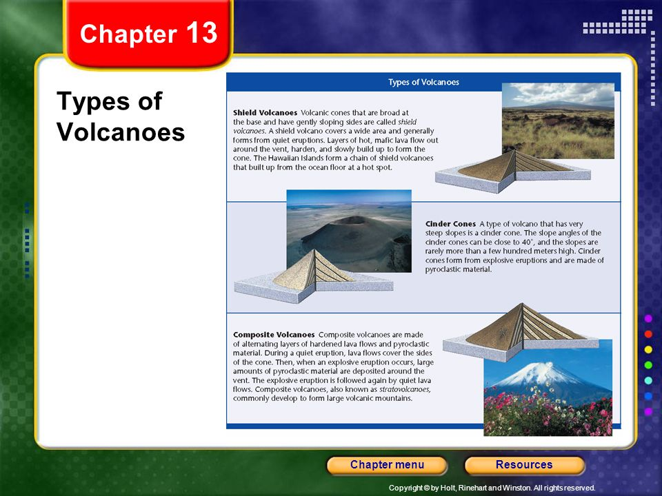 Chapter 13 Types of Volcanoes