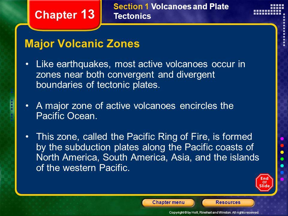 Chapter 13 Major Volcanic Zones