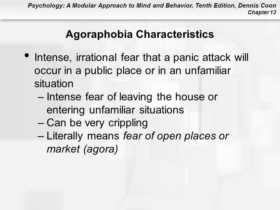 Agoraphobia Characteristics