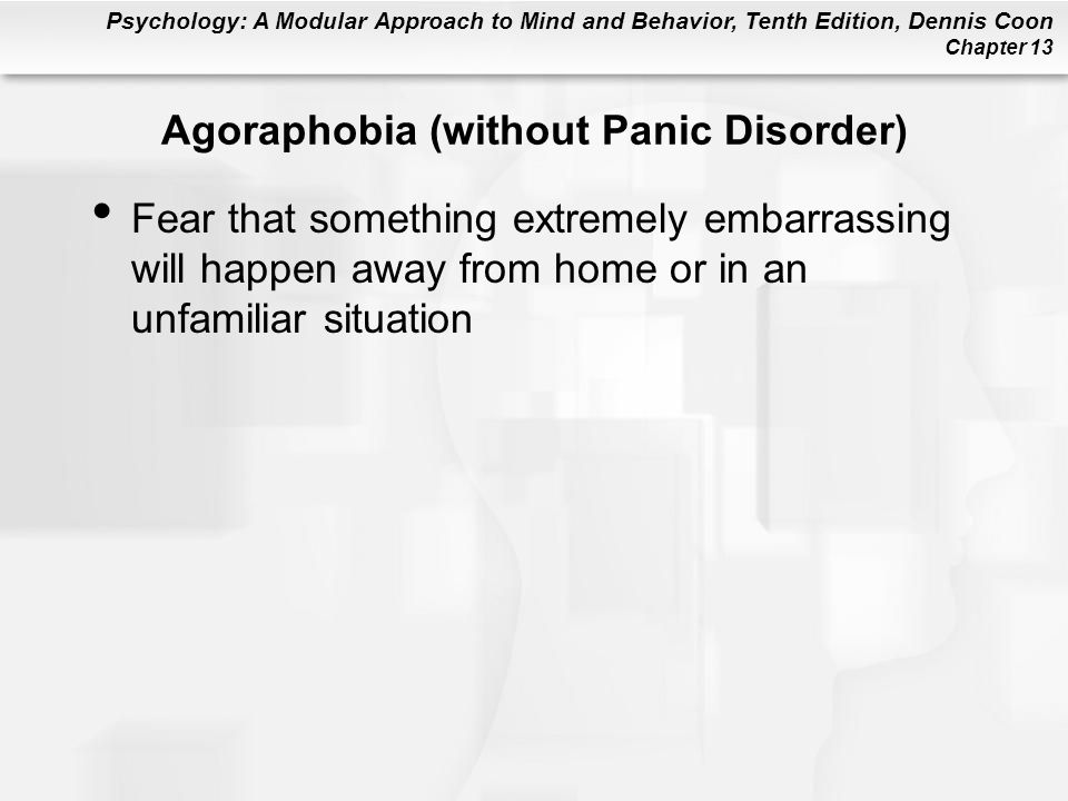 Agoraphobia (without Panic Disorder)