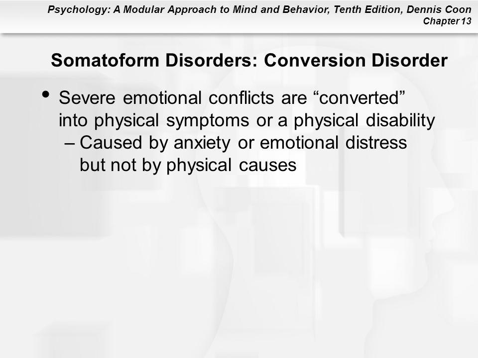 Somatoform Disorders: Conversion Disorder