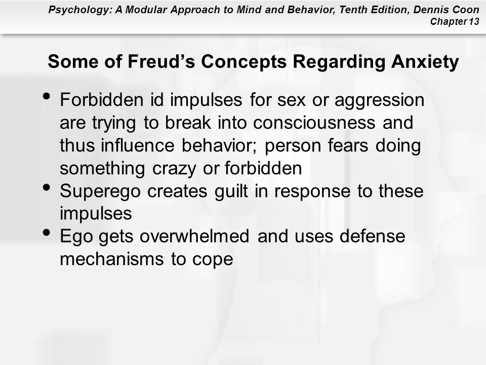 Some of Freud's Concepts Regarding Anxiety