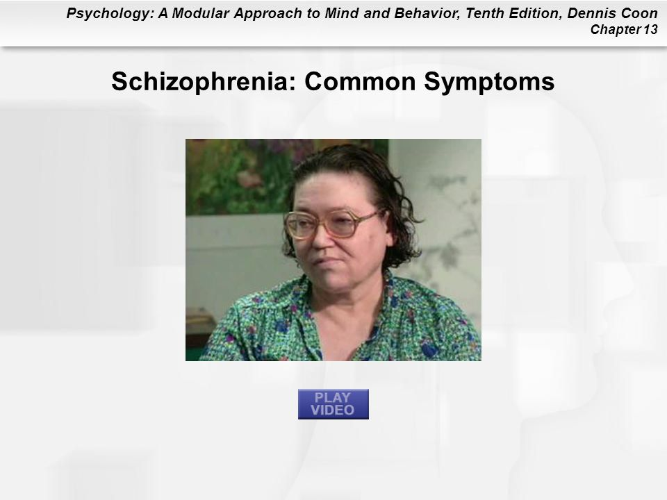 Schizophrenia: Common Symptoms