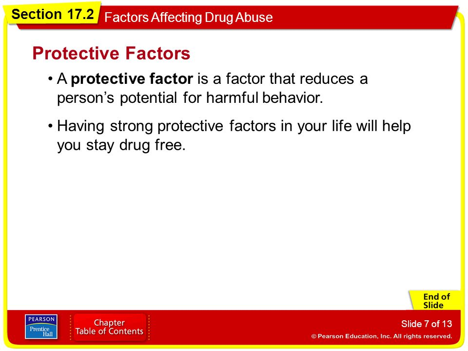 Protective Factors A protective factor is a factor that reduces a person's potential for harmful behavior.