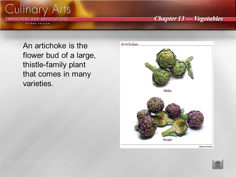 An artichoke is the flower bud of a large, thistle-family plant that comes in many varieties.