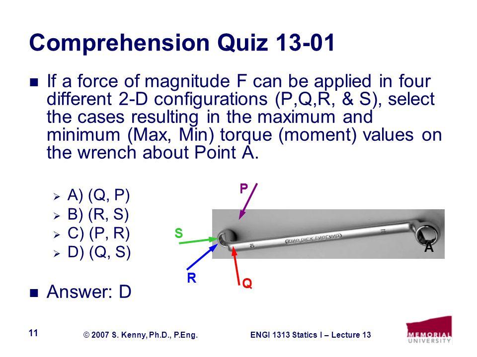 Comprehension Quiz 13-01