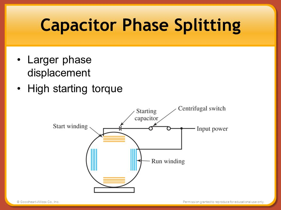 Capacitor Phase Splitting