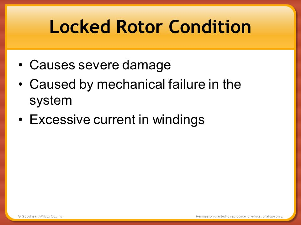 Locked Rotor Condition