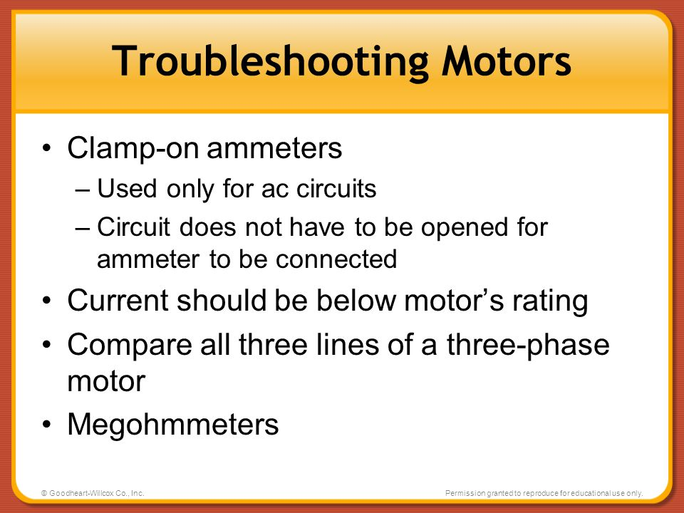 Troubleshooting Motors