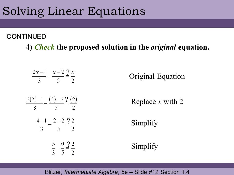 Blitzer, Intermediate Algebra, 5e – Slide #12 Section 1.4