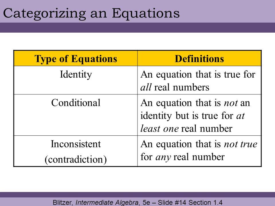 Blitzer, Intermediate Algebra, 5e – Slide #14 Section 1.4