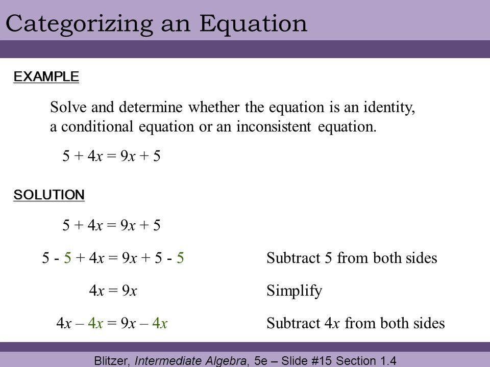 Blitzer, Intermediate Algebra, 5e – Slide #15 Section 1.4
