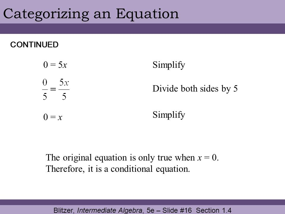 Blitzer, Intermediate Algebra, 5e – Slide #16 Section 1.4