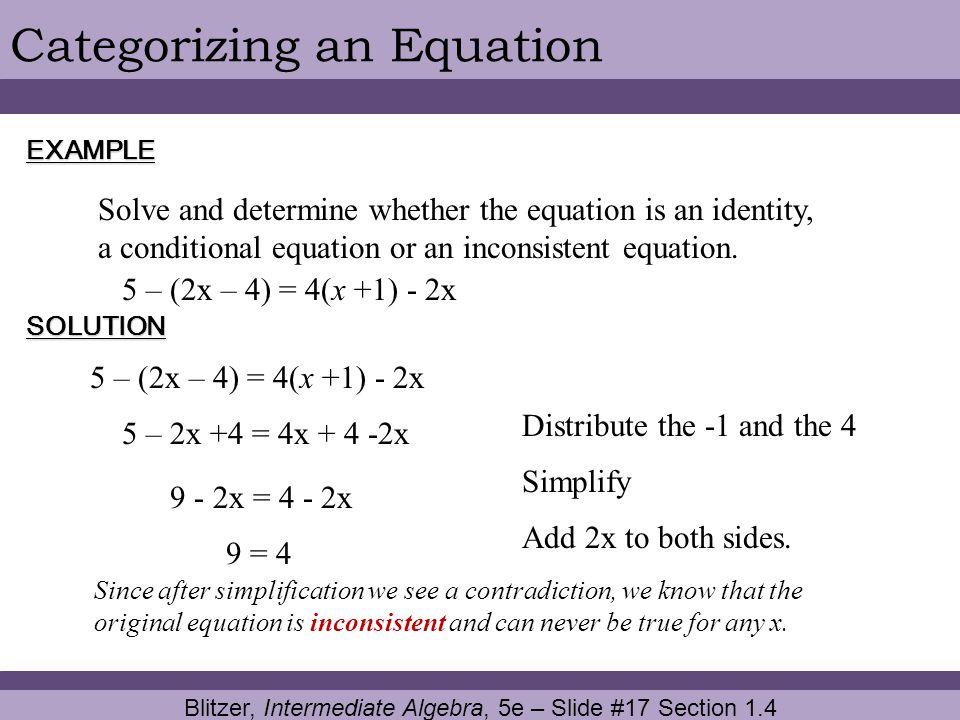 Blitzer, Intermediate Algebra, 5e – Slide #17 Section 1.4