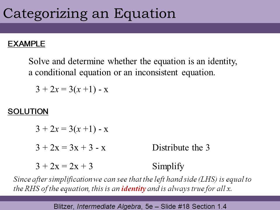 Blitzer, Intermediate Algebra, 5e – Slide #18 Section 1.4