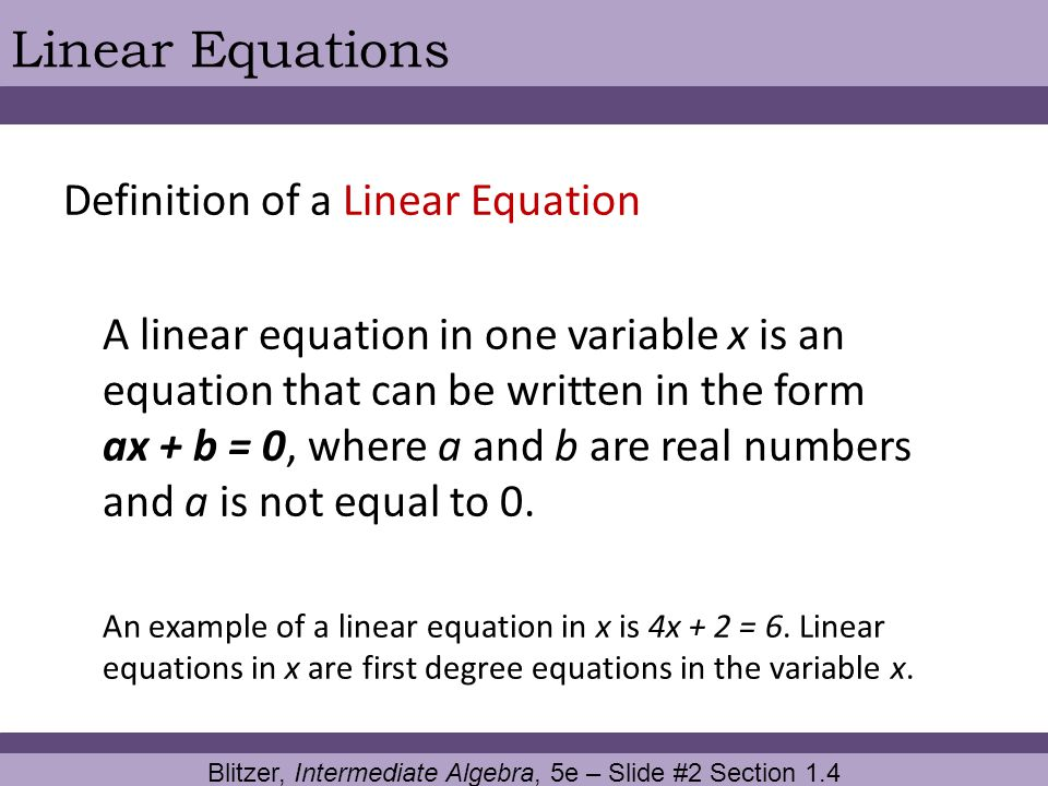 Blitzer, Intermediate Algebra, 5e – Slide #2 Section 1.4