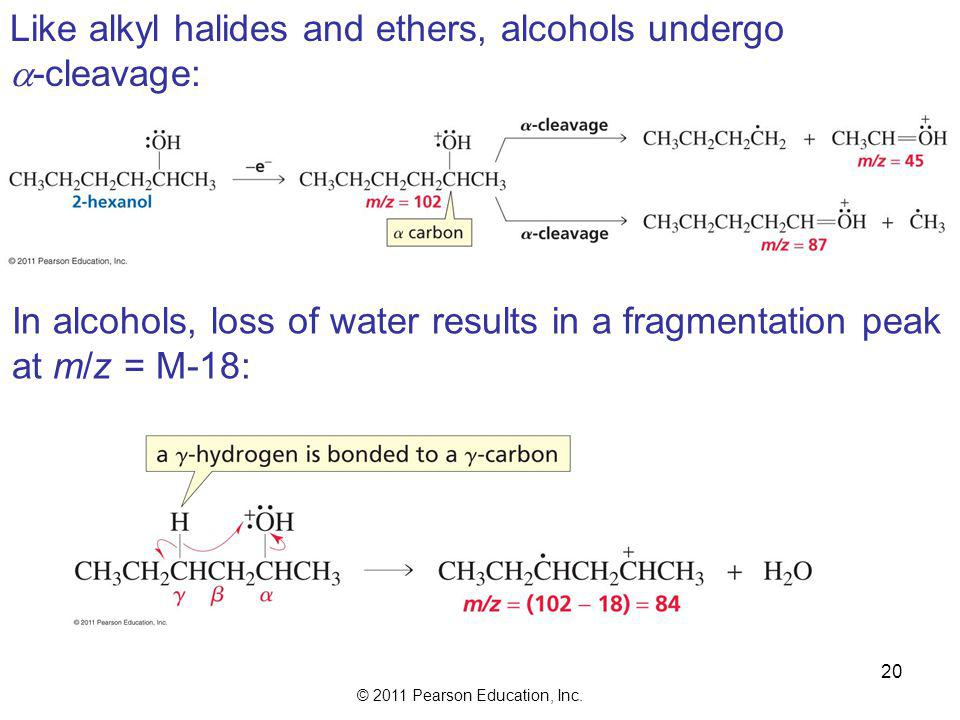 Like alkyl halides and ethers, alcohols undergo
