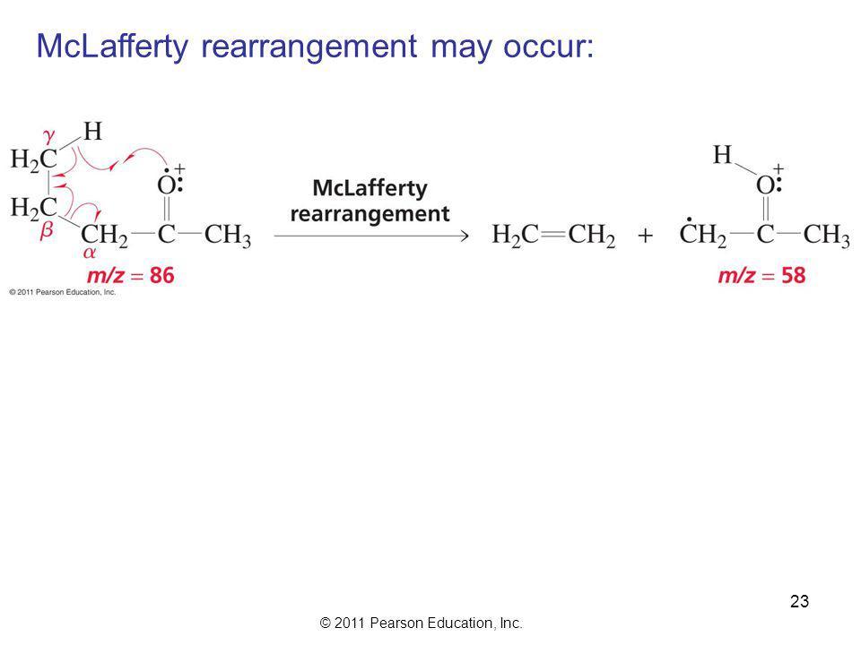 McLafferty rearrangement may occur: