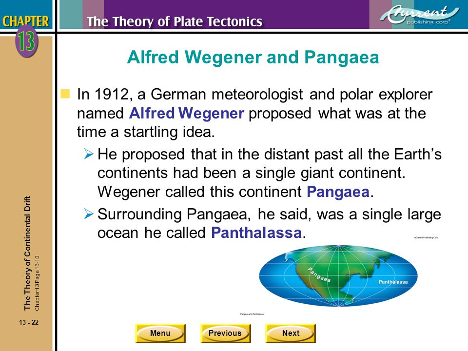 Alfred Wegener and Pangaea