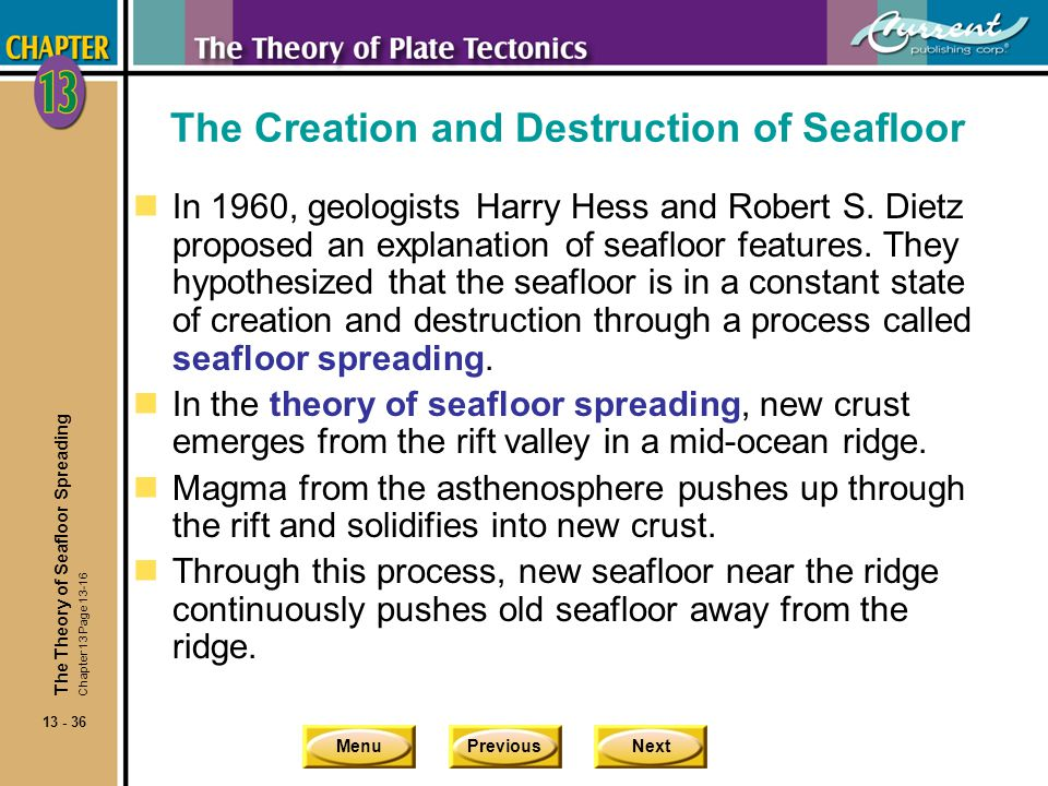 The Creation and Destruction of Seafloor