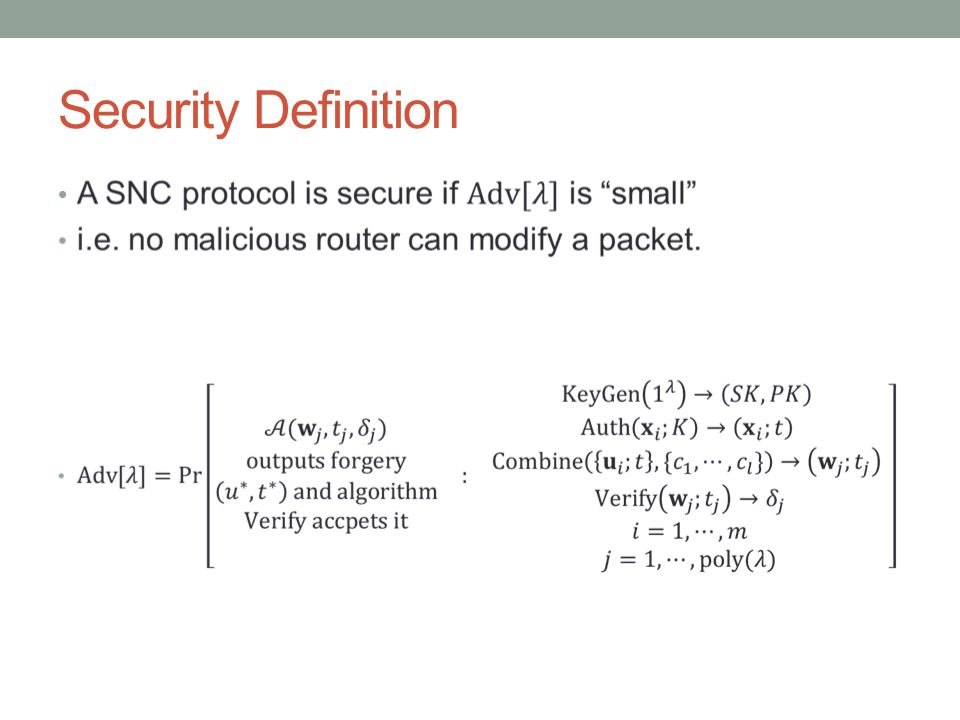 Security Definition