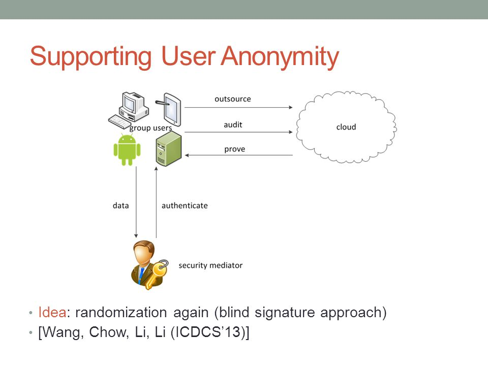 Supporting User Anonymity