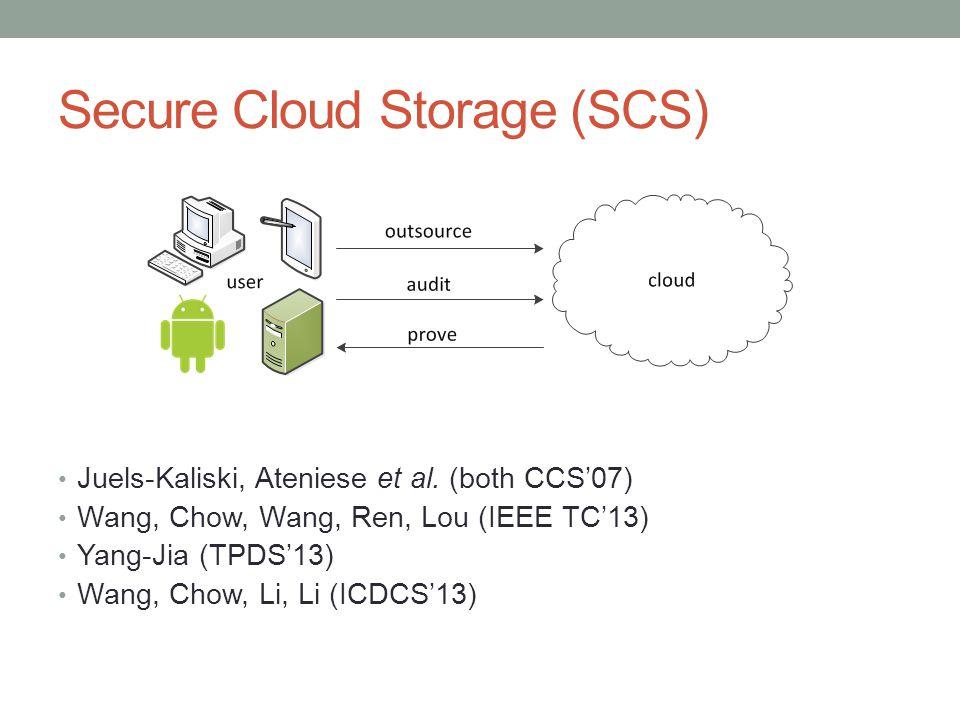 Secure Cloud Storage (SCS)