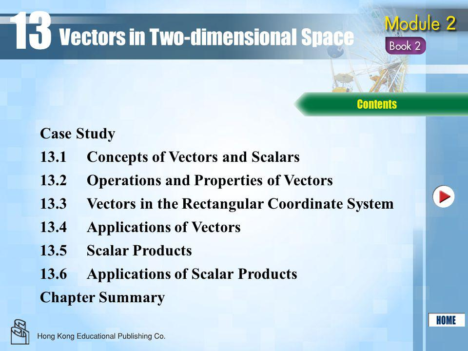 13 Vectors in Two-dimensional Space Case Study