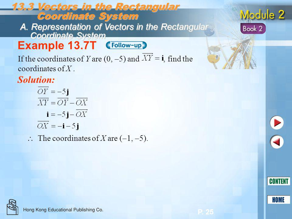 Example 13.7T 13.3 Vectors in the Rectangular Coordinate System