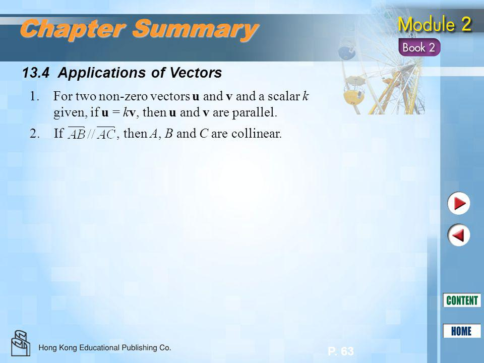 Chapter Summary 13.4 Applications of Vectors