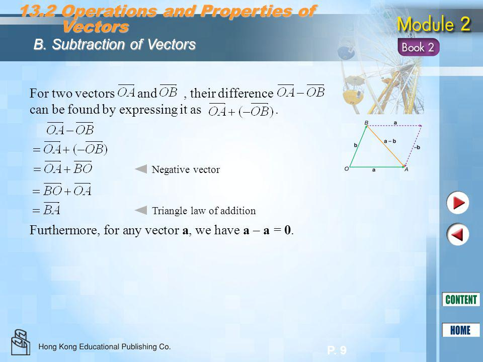 13.2 Operations and Properties of Vectors
