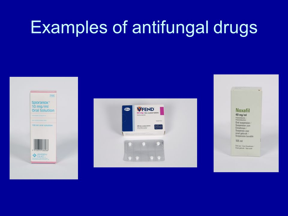 Examples of antifungal drugs