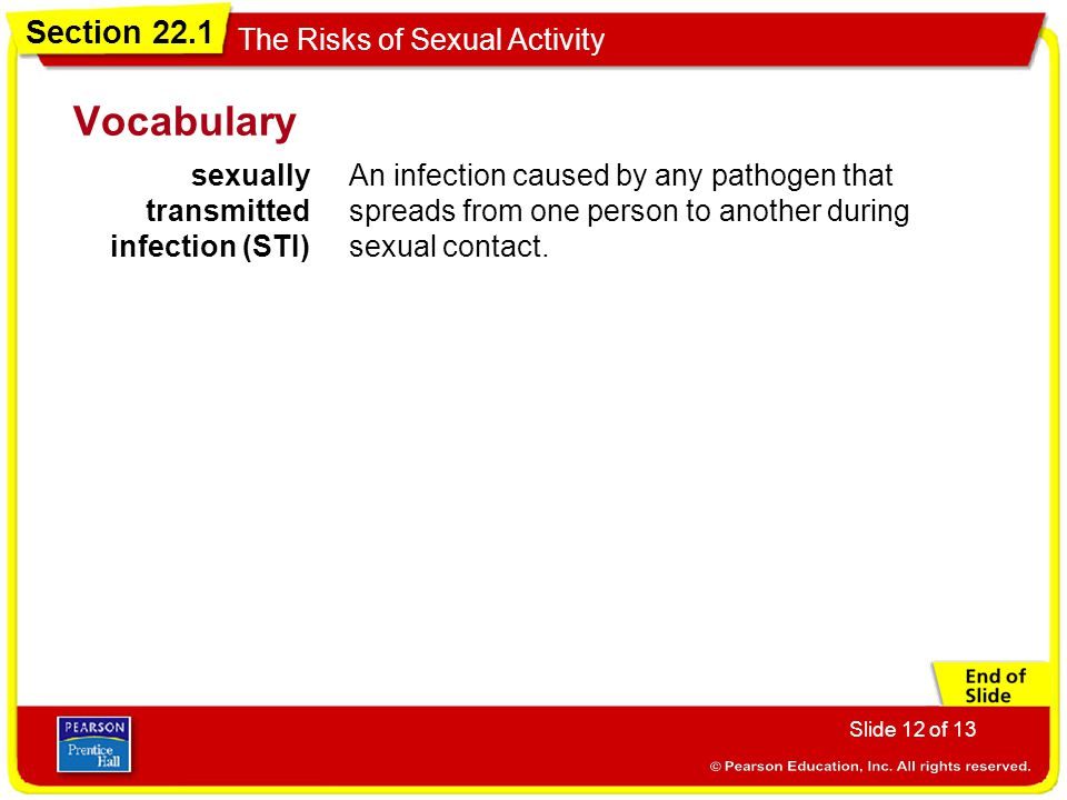 Vocabulary sexually transmitted infection (STI)