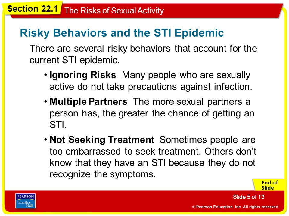 Risky Behaviors and the STI Epidemic