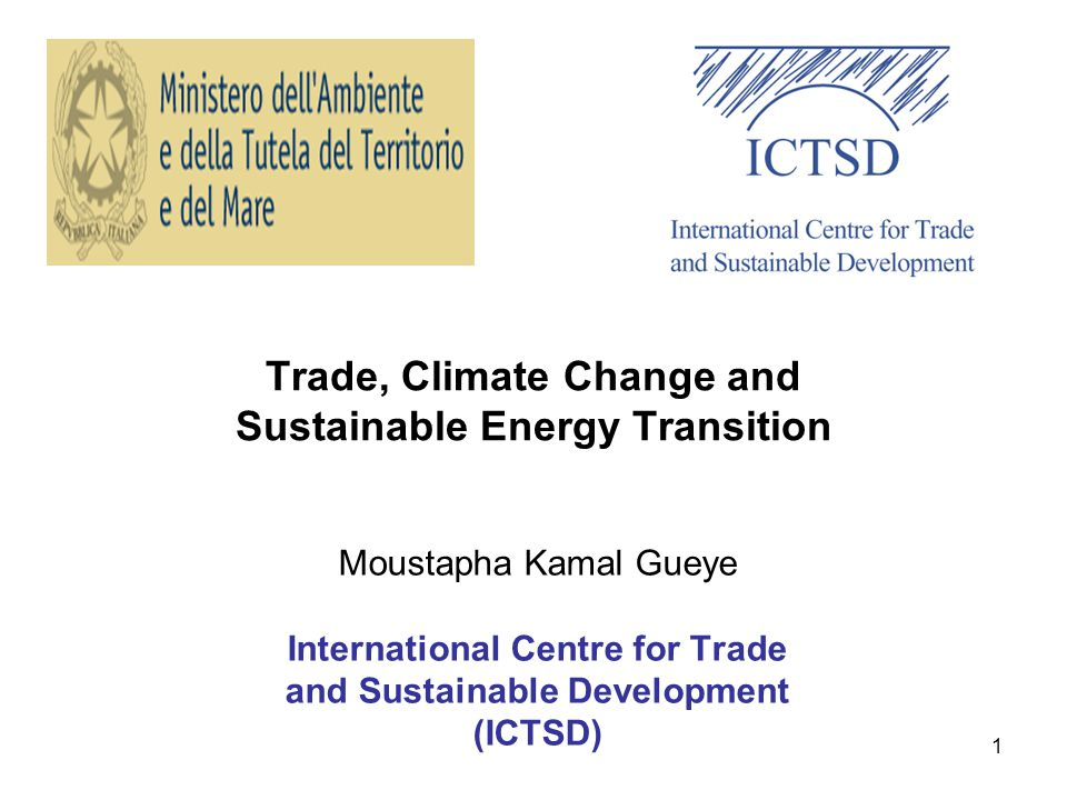 Trade, Climate Change and Sustainable Energy Transition