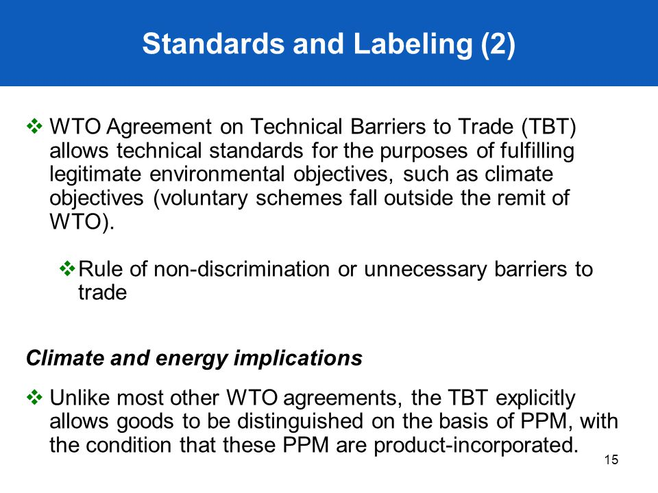 Standards and Labeling (2)