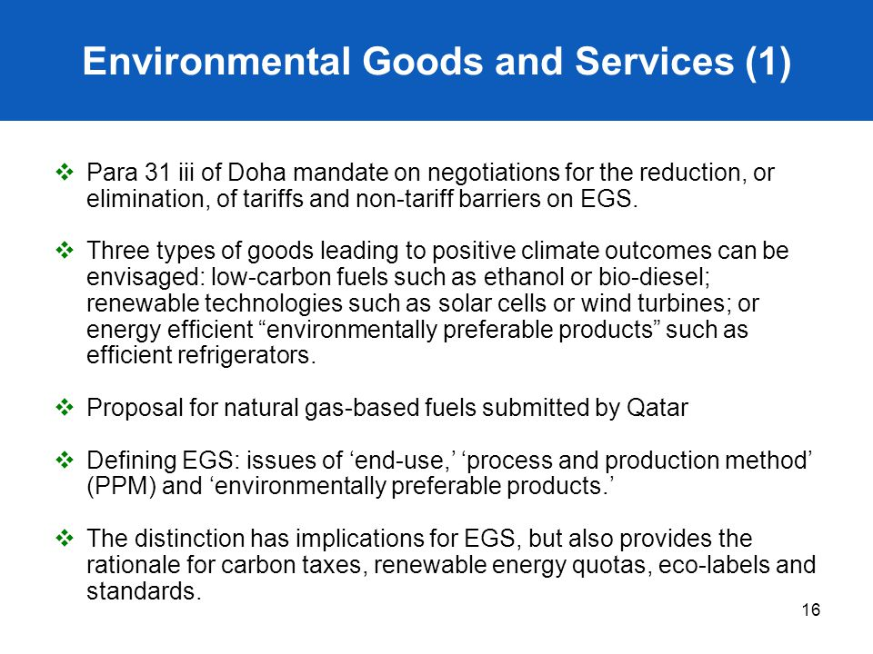 Environmental Goods and Services (1)