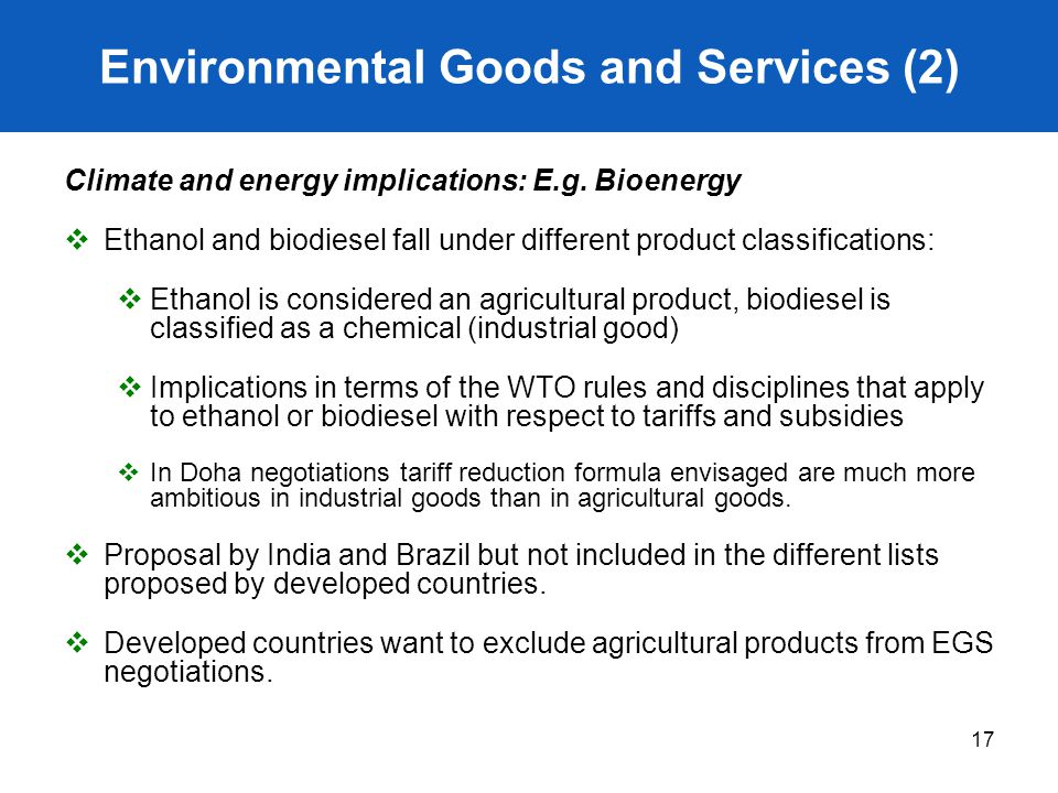 Environmental Goods and Services (2)