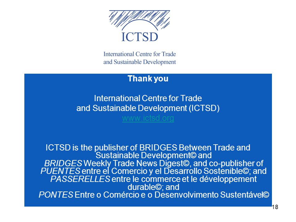 International Centre for Trade and Sustainable Development (ICTSD)