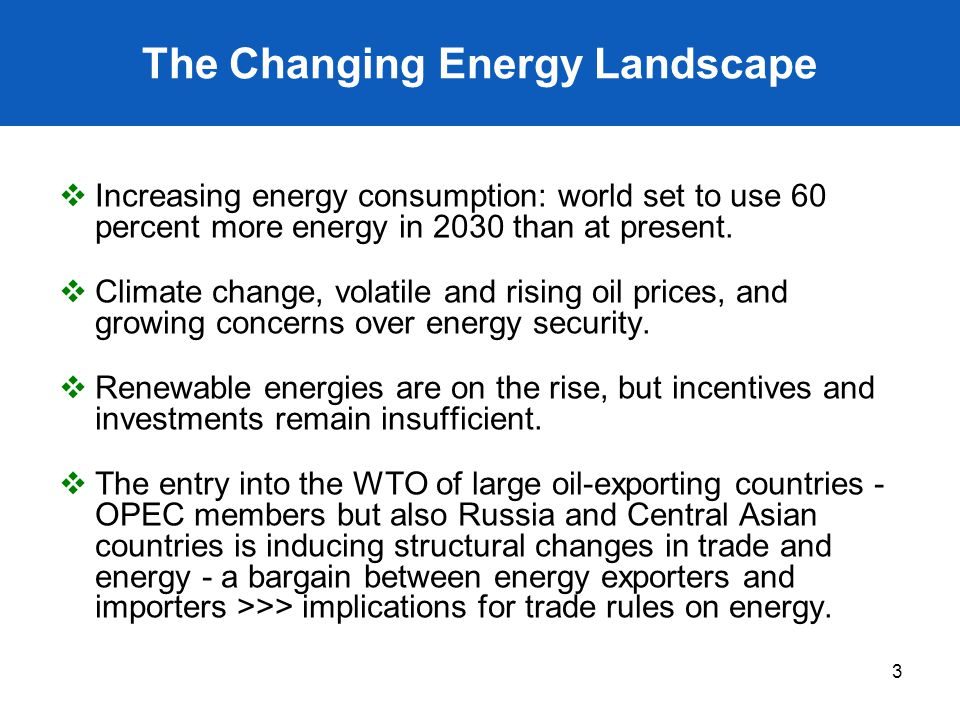 The Changing Energy Landscape