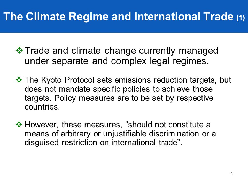 The Climate Regime and International Trade (1)