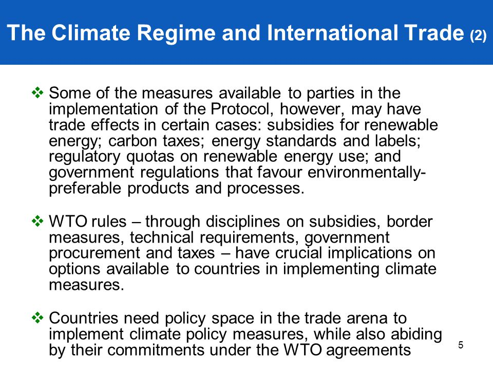 The Climate Regime and International Trade (2)
