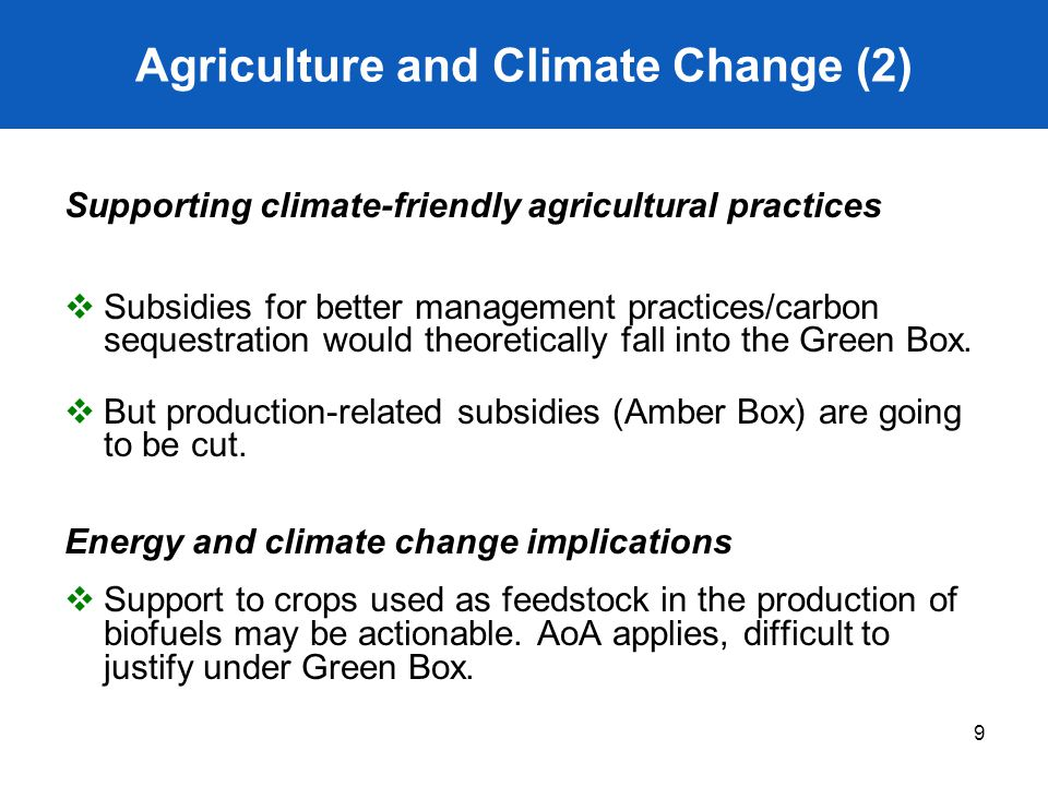 Agriculture and Climate Change (2)