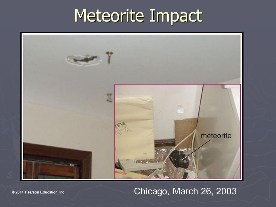 Meteorite Impact Chicago, March 26, 2003 (note deleted)