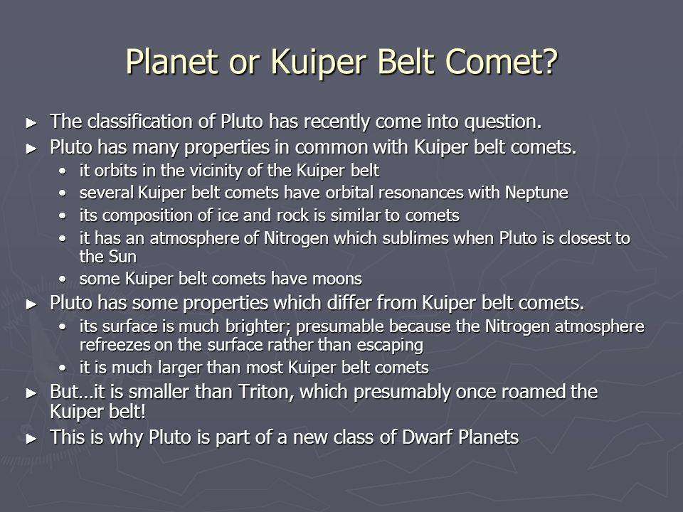 Planet or Kuiper Belt Comet