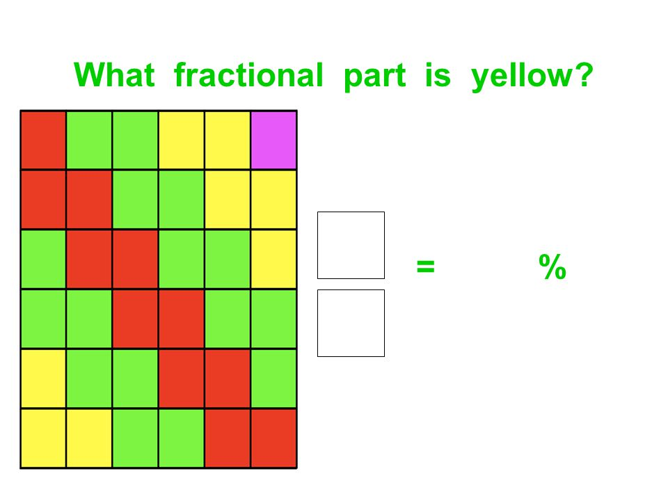 What fractional part is yellow
