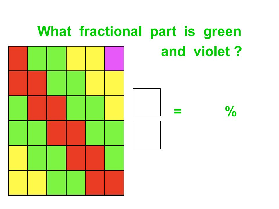 What fractional part is green