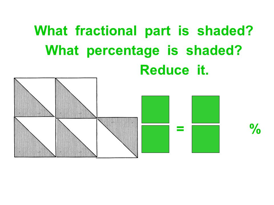 What fractional part is shaded What percentage is shaded
