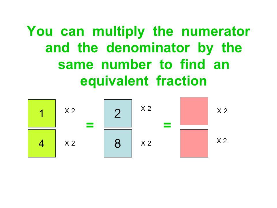 You can multiply the numerator and the denominator by the same number to find an equivalent fraction