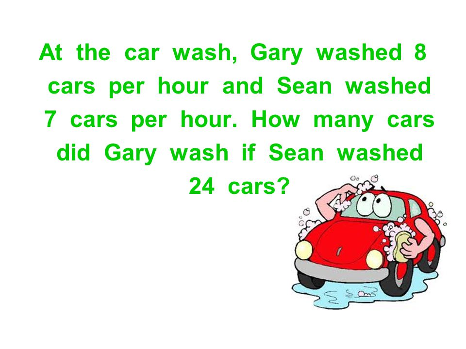 At the car wash, Gary washed 8 cars per hour and Sean washed